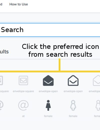 Search Font Awesome Icons